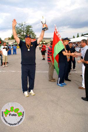 Anton Vlasovets, Kapitän der weissrussischen National-mannschaft, wurde Torschützenkönig bei der EM in Deutschland.