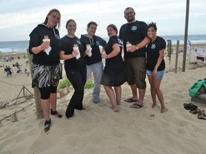 Churros à la main, sur la plage abandonnée... (envoi de Béné le 07/11)