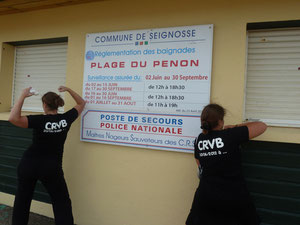 Le CRVB soutien actif des MNS de la plage du PENON (envoi de Marion le 07/11)