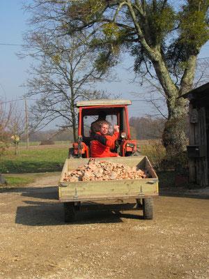Zuerst werden die Traktoren ausprobiert :-)