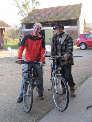 dann die Fahrräder....
