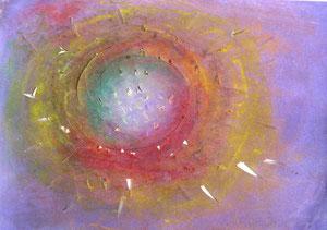F 2. Nebulosa. Pastel i talls sobre paper. (35 x 25cm)