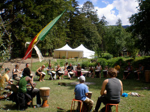 1. Djembé-Workshop 2012 in Campodells GR