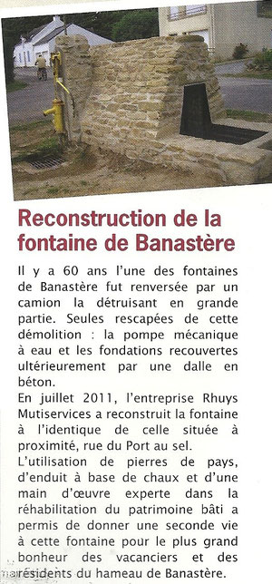 Reconstruction Fontaine de Banastere