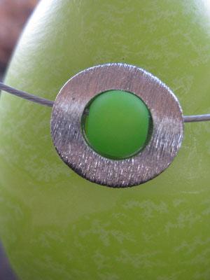 Rondell rhodiniert gebürstet Bild 2