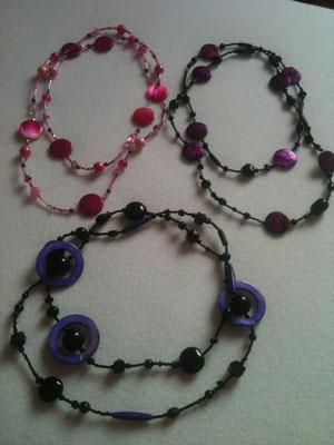 Lange Perlenketten / 12 € pro Stück