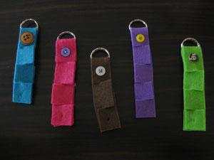 Schlüsselanhänger aus Filz / 2,50 € pro Stück