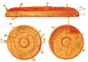 Dibujo de la patente original del frisbee