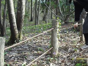 公園柵用ロープ