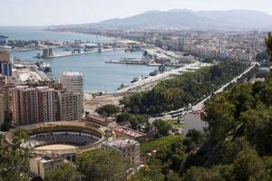 Malaga vanaf Gibralfaro