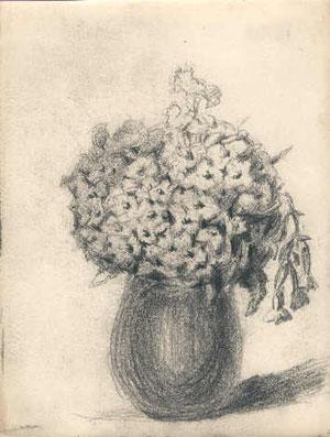 Bouquet dans vase.