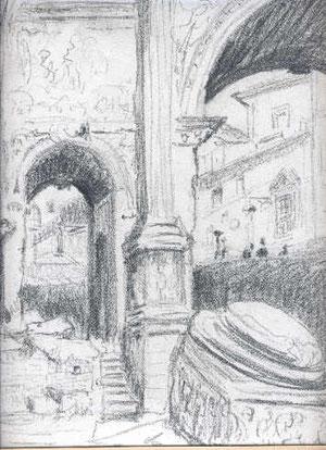 L'arc de Septime à Rome.
