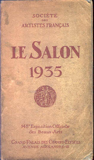 Catalogue de l'exposition de 1935.