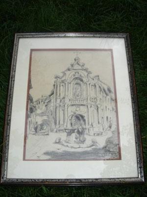 Eglise du quartier de l'Escargot à Sienne en 1935.
