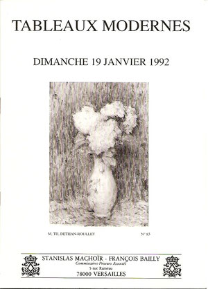 Vente de 1992 à Versailles comprenant 110 oeuvres.