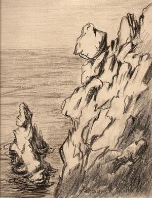 Cote rocheuse en Bretagne.