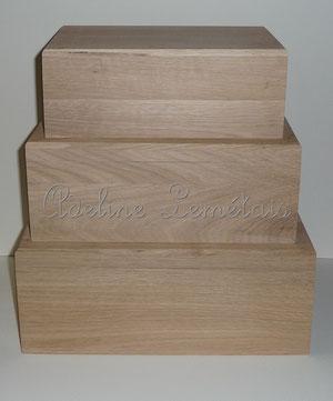 Coffrets chêne massif, fabriqués en Lozère
