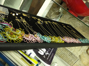 "NECKLACE  ""BEAUTY HALF"" (Chaine plaque or)"