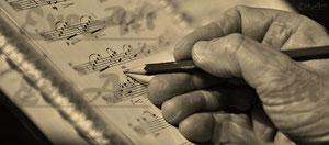 Auf Noten schreiben