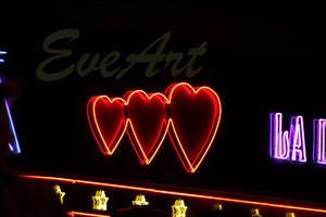 Herzen in der Nacht