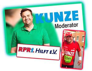 Schirmherr für Mirko´s Spendenlauf ist RPR1 Anchor-Mann Kunze