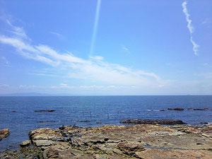 知多半島を眺める