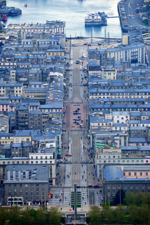 brest, finistère, bretagne, france, paysage urbain, bâtiment, toit, avenue, rue, aérien