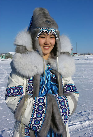 Девушка. пос. Оленек. Якутия. Фото Виктора Солодухина