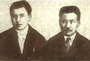 И.А. Мельников  и И.П. Жегусов 1937 год