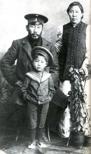 Кулаковский с семьей