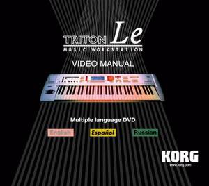 KORG TRITON LE DVD £10.99