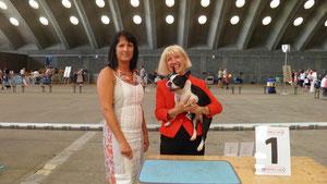 18.08.2012, CACIB Mechelen/Belgien, Drusus de Asciburgium BOB, Richterin: Brigita Kremser, SL