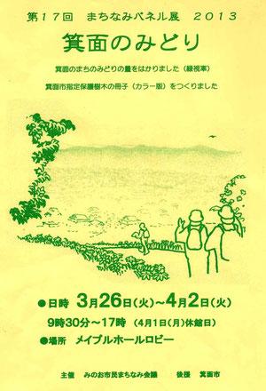第17回まちなみパネル展2013