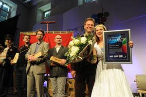 Preisverleihung im Anschluss an eine Vorstellung mit M.Brieske, J.Westendorff, M.von Reth, S.Mink, J.Metzger,M.Dürr