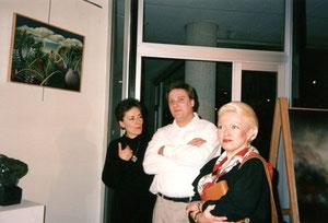 avec frédérique montane sculpteur et aline llareus dinier critique d'art -1991