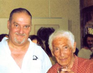 avec le poète andré verdet -  cordes -sur-ciel-   2003