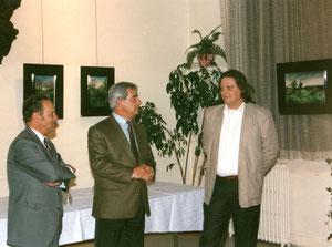 avec yves bro critique d'art et le sénateur guy lèguevaques - 1991