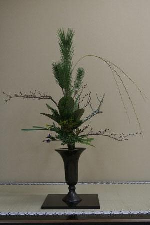 中村正和先生による床の間の立花