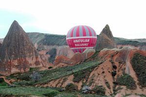 Ballon Fahrt bei Göreme
