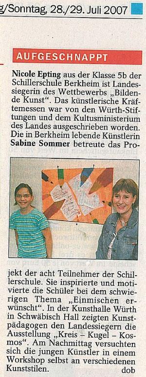 Quelle: Esslinger Zeitung Juli 2007