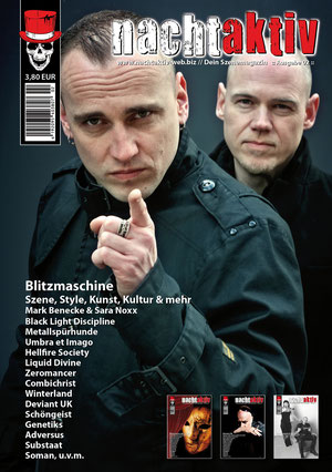 """BLITZMASCHINE - Titelstory im Magazin """"nachtaktiv"""" Ausgabe 02/2011"""