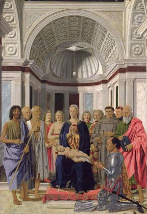 Sacra conversación.Piero della Francesca 1472,Milán