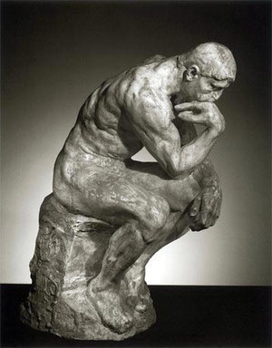 """Thinker"", el pensador, de Auguste Rodin"