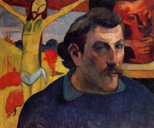 Autoretrato de Paul Gauguin,Museo D´Orsey, Paris....Bajo los brazos protectores de  ese Cristo doliente que redime al hombre...