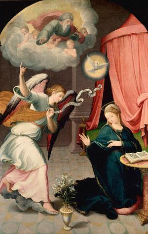 Anunciación.Juan Correa de Vivar(1510-1566)