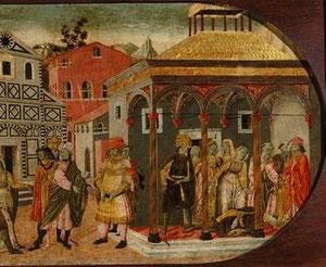 El augur transmite a los cónyuges que uno de los animales debe morir, pero que si sacrifica a la hembra morirá Cornelia, y si se elige al macho perecerá Tiberio..  Tiberio mata al reptil y muere a los pies de su esposa, a la que ama con locura.