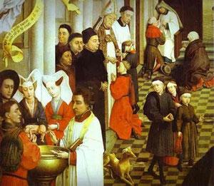 Detalle Bautismo.Roger van der Weyden