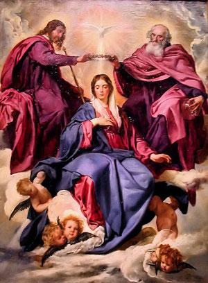 Coronación de la Virgen . Velázquez