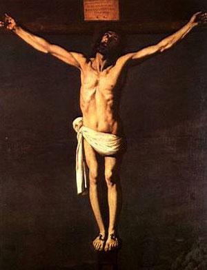 Zurbarán,Jesus crucificado expirante,1635, Museo de Bellas Artes de Sevilla