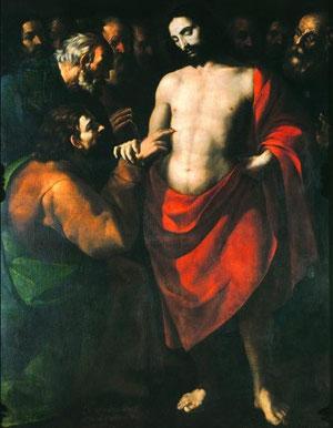 Incredulidad de Santo Tomás, López de Arteaga 1643, Museo Nacional de Arte de Méjico